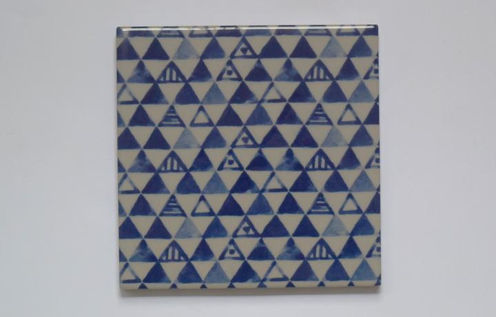 134藍三角紋