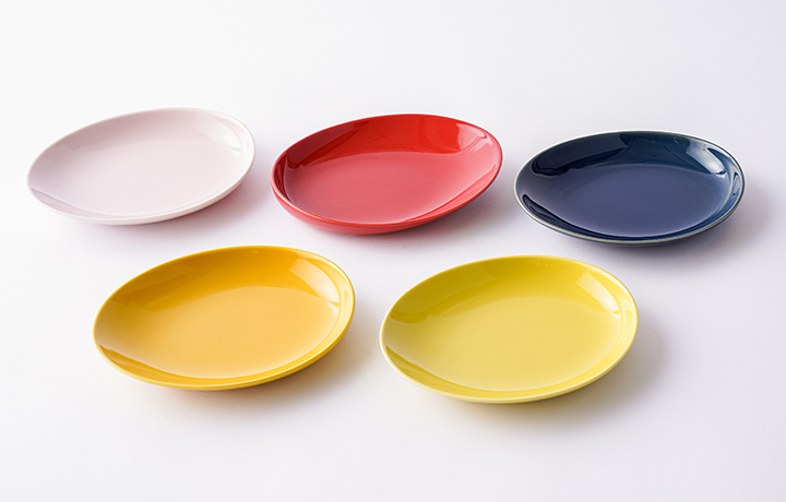 波佐見焼 プレート 皿 大 5色セット Kシェープ