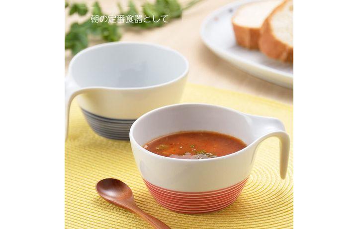 波佐見焼 ペア スープカップ ボーダー